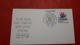 Des USA Enveloppe Des Pompiers - Brandweer