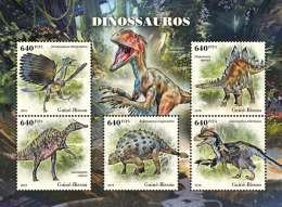 GUINEA BISSAU 2018 MNH** Dinosaurs Dinosaurier Dinosaures M/S - OFFICIAL ISSUE - DH1826 - Stamps