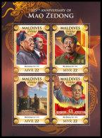 MALDIVES 2018 MNH** Mao Zedong V. Lenin D. Xiwen M/S - IMPERFORATED - DH1826 - Mao Tse-Tung