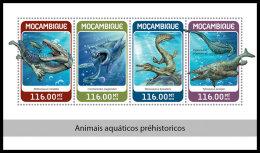 MOZAMBIQUE 2018 MNH** Prehistoric Water Animals Wassersaurier Dinosaure Eau M/S - OFFICIAL ISSUE - DH1826 - Prehistorics