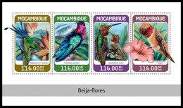 MOZAMBIQUE 2018 MNH** Colibris Kolibris M/S - IMPERFORATED - DH1826 - Hummingbirds