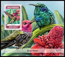 MOZAMBIQUE 2018 MNH** Colibris Kolibris S/S - IMPERFORATED - DH1826 - Hummingbirds