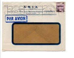 MAROC LETTRE A EN TETE POUR LA FRANCE DU 11/5/1953 - Storia Postale