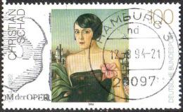 RFA Poste Obl Yv:1578 Mi 1748 Yv:1 Euro Christian Schad (TB Cachet à Date) - [7] Federal Republic