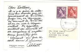 4560 - Publicitaire PENTOTHAL - 1952-65 Elizabeth II : Ed. Pré-décimales