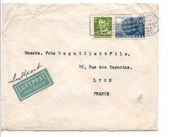 DANEMARK AFFRANCHISSEMENT COMPOSE SUR LETTRE AVION POUR LA FRANCE DU 22/10/1949 - Dinamarca