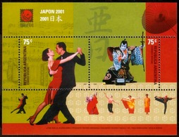 """Argentina - 2001 - Exposition Universelle De Philatélie """"Japon 2001"""". - Tango - Muziek"""