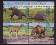 Argentina - 2001 - Faune Préhistorique Du Cénozoique. - Yvert 2228 / 2231 - Vor- U. Frühgeschichte