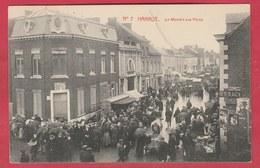 Hannut - Top Carte - Le Marché Aux Porcs - 1913 ( Voir Verso ) - Hannut