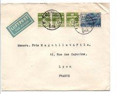 DANEMARK AFFRANCHISSEMENT COMPOSE SUR LETTRE POUR LA FRANCE DU 7/11/1951 - Dinamarca