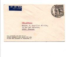 AUSTRALIE LETTRE AVION POUR LA FRANCE DU 14/11/1950 - 1952-65 Elizabeth II : Pre-Decimals