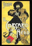 [MD2004] CPM - SALGARI - IL CORSARO NERO - CENTENARIO DELLA SCOMPARSA - CON ANNULLO 20.5.2011 - NV - Scrittori