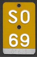 Velonummer Mofanummer Solothurn SO 69 (erste Gelbe Mofanummer SO) - Plaques D'immatriculation