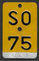 Velonummer Mofanummer Solothurn SO 75 - Number Plates