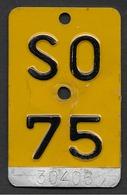 Velonummer Mofanummer Solothurn SO 75 - Plaques D'immatriculation