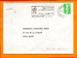 NORD, Valenciennes, Flamme SCOTEM N° 14813, 6e Montgolfiades, 29 Juin-2 Juillet 1995 - Oblitérations Mécaniques (flammes)