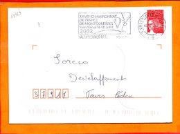 NORD, Valenciennes, Flamme SCOTEM N° 18769, XXVIIIe Championnat De France De Montgolfières, 16-21 Juillet 2002 - Marcophilie (Lettres)