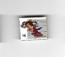 Féve  Forme  Timbre 1 €, BD  Verso TAZ,  TM & Warner  Bros - Strips