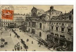 Carte Postale Ancienne Angers - Place Du Ralliement. Théâtre Et Le Grand Hôtel - Angers