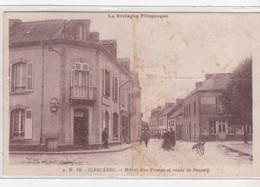 [56] Morbihan > Cleguerec Hôtel Des Postes Et Route De Pontivy Plan Recherchée Rare - Cleguerec