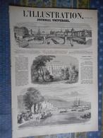 L ILLUSTRATION 29/10/1859 NICE ORESTIS PARIS BRADIERES POITIERS LUXEMBOURG GARE VALEGGIO MOZAMBANO LA CIOTAT LE HAVRE CH - 1850 - 1899