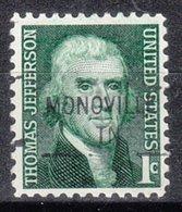 USA Precancel Vorausentwertung Preo, Locals Tennessee, Monoville 841 - Vereinigte Staaten