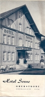 Brochure Dépliant Faltblatt Toerisme Tourisme - Hotel Sonne - Obersdorf - Oberallgäu - Ca 1955 - Dépliants Touristiques