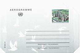 Nations Unies Bureau Vienne United Nation Vereinte Entier Postal, Ganzsachen, Postal Stationery Aérogramme Luftpostf. - Centre International De Vienne