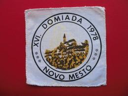 XVI.DOMIADA 1978,NOVO MESTO - Ecussons Tissu