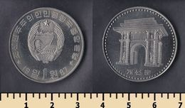 North Korea 1 Won 1987 - Corée Du Nord