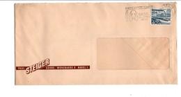 SUISSE OBLITERATION MECANIQUE SUR LETTRE DE BALE POUR LA FRANCE 1953  EXPO CANINE - Poststempel