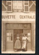 Carte Photo De La Buvette Centrale A Quiberon-1911 - Quiberon