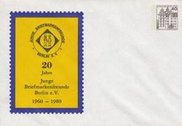 B PU 71/8** 20 Jahre Junge Briefmarkenferunde Berlin EV. 1960 - 1980 - Berlin (West)
