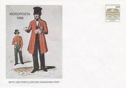 B PU 77/11** NORDPOSTA 1986 - Bote Und Postillion Der Dänischen Post - Berlin (West)