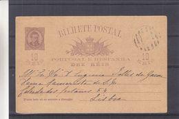 Portugal - Carte Postale De 1890 ? - Entier Postaux - Exp Vers Lisbonne - - Cartas