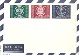 Autriche Österreich Entier Postal, Ganzsachen, Postal Stationery Aérogramme Privé Luftpostfaltbriefe Private - Postwaardestukken