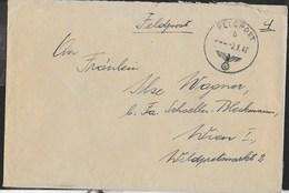 ANNULLO FELDPOST B - 02.08.1942 SU BUSTA PER WIEN DA FELDPOST 20444 - Briefe U. Dokumente