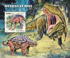 GUINEA BISSAU 2018 - Dinosaurs S/S. Official Issue - Préhistoriques