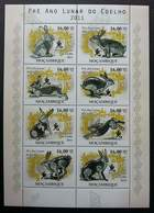 Mozambique Year Of The Rabbit 2011 Chinese Zodiac Lunar Pet Rabbits (sheetlet) MNH - Mozambique