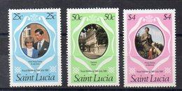 SAINTE LUCIE   Timbres Neufs ** De 1981  ( Ref 5467 )  Mariage Royal - St.Lucia (1979-...)