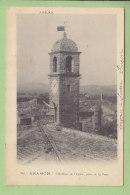 ARAMON : L'Horloge De L'Eglise, Prise De La Tour. Dos Simple. 2 Scans. Edition J.B.E.N.P. - Aramon