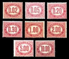 REGNO 1875 Servizio Di Stato - Serie Completa 8 Bolli MNH** Integra Lusso! - 1861-78 Vittorio Emanuele II