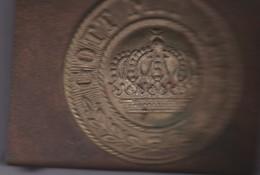 Boucle De Ceinturon Allemand 1ére Guerre Mondiale 1914-1918.GOTT MIT UNIS Avec Couronne (Dieu Est Avec Nous) - Equipment