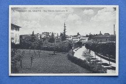 Cartolina Crespano Del Grappa - Via Vittorio Emanuele III - 1934 - Treviso