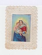 Image Pieuse Ancienne. Canivet Avec Image De Jésus Et Marie. Editeur Mme Durand. (121) - Images Religieuses
