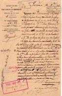 VP12.700 - PARIS 1883 - Lettre De La Cie Du Chemin De Fer De PARIS à LYON Objet Conduite De Gaz à VILLENEUVE SUR YONNE - Chemin De Fer