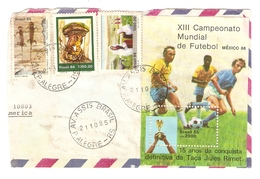 LETTRE BRASIL BRÉSIL 21/10/1985 - XIII ème CAMPEONATO MUNDIAL FUTEBOL MEXICO 1986 - MONDIAL DE FOOTBALL - Brasilien