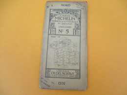 Carte MICHELIN /N° 5 CAEN-ROUEN/ Ch Delagrave/ Paris/ Automobiles Renault Et Delaunay Belleville/ Vers 1905  PGC186 - Cartes Routières