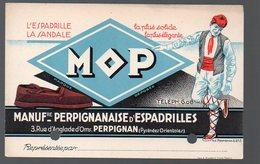 Perpignan (66 Pyrénées Orientales)  Carte Publicitaire MOP (espadrilles)   (PPP13771) - Pubblicitari
