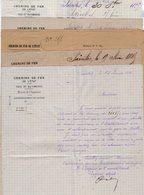 VP12.701 - SAINTES 1885 - Lot De Documents De La Cie Des Chemins De Fer De L'Etat Concernant La Commune De RUELLE - Chemin De Fer